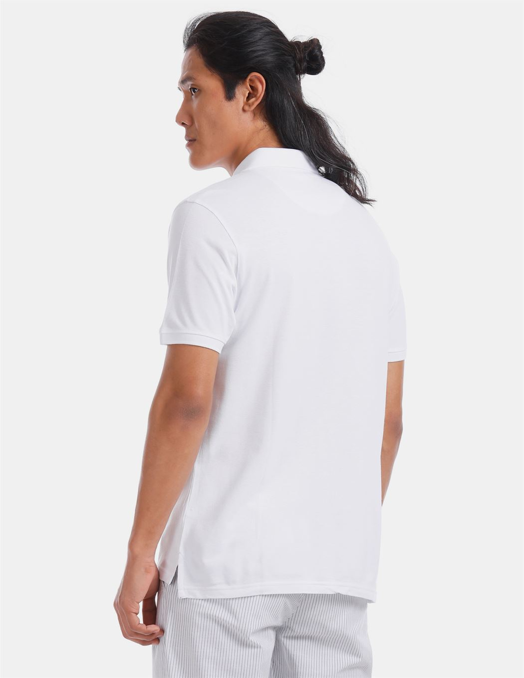 True Blue Men Casual Wear White T-Shirt